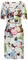 Betty Barclay Orchid Print Jersey Dress, Multi