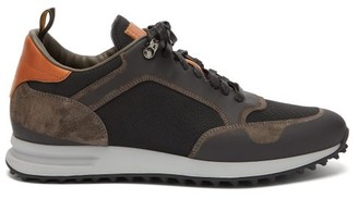 Dunhill Radial Suede And Mesh Trainers - Mens - Tan