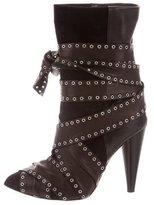 Isabel Marant Aleen Grommet-Embellished Ankle Boots