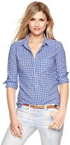 Gap Shrunken boyfriend gingham shirt