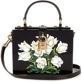 Dolce & Gabbana Dolce Box Tulip-print plexiglass bag
