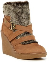 Fergie Omega Faux Fur Wedge Boot