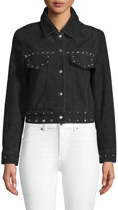 Veda Wynona Embellished Leather Jacket