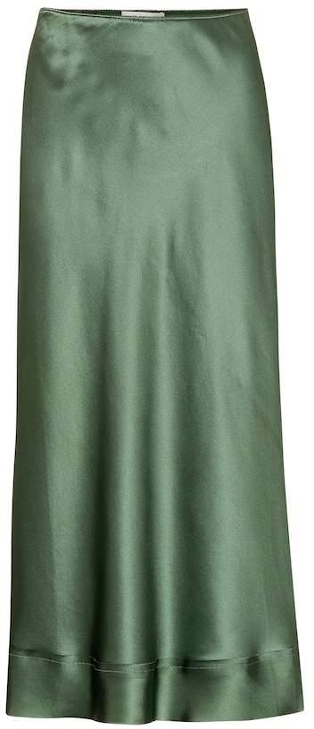 Lee Mathews Stella silk satin midi skirt