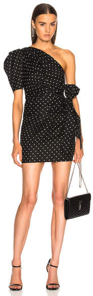 Alexandre Vauthier One Shoulder Dot Dress