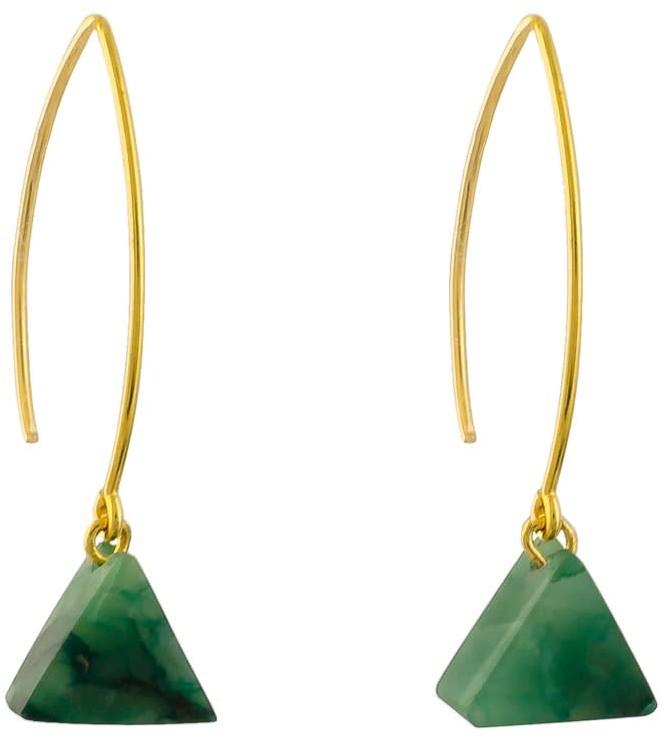 Alistair R Gemstone Drop Earrings - Aventurine