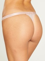 Gossard Floral Deco Lace Thong - Rose