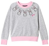 Juicy Couture Grey Bunny Embroidered Velour Sweatshirt