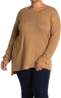 Bobeau Long Sleeve High/Low Tunic