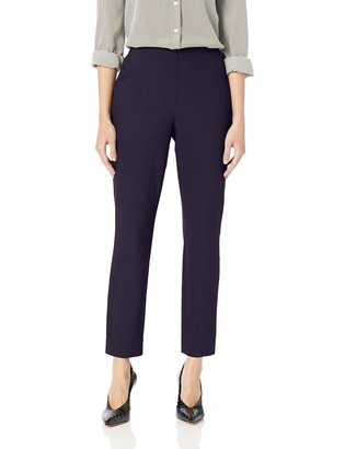 Lark & Ro Women's Stretch Side Zip Pant - Curvy