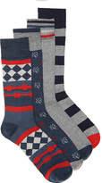 Lucky Brand Men's Geo Shamrock Men's Crew Socks - 4 Pack