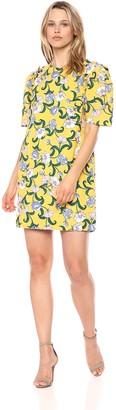 Moon River Women's Short Sleeve Retro Mini Shift Dress