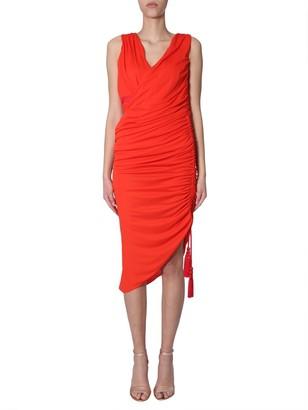 Lanvin Ruched Midi Dress