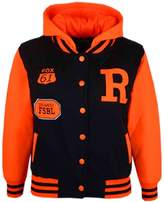 a2z4kids Kids Girls Boys R Fashion NYC FOX Baseball Hooded Jacket Varsity Hoodie 2-13 Yrs