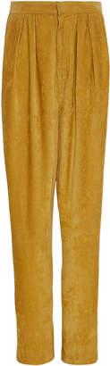 Isabel Marant Fany High-Rise Corduroy Straight-Leg Pants