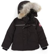Canada Goose Toddler Snowy Owl Down Parka With Genuine Coyote Fur Trim