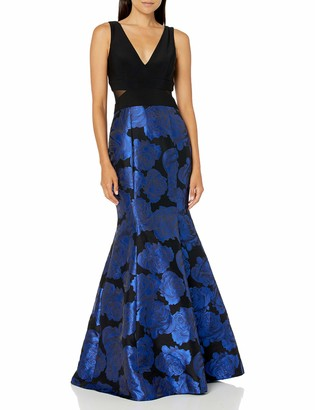 Xscape Evenings Women's Long Brocade Mermaid Skirt W/Ity Top