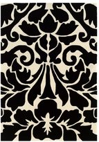 Linon Trio Collection Damask Black/ White Area Rug (8' x 10')