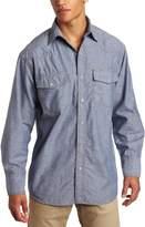 Key Apparel Men's Long Sleeve Western Snap Pre-Washed Chambray Shirt