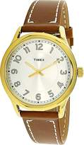 Timex Women's TW2R23000 Leather Analog Quartz Fashion Watch