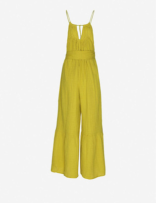 Anaak Banyan halter neck cotton jumpsuit