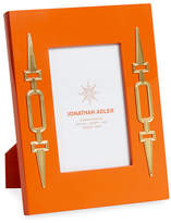 "Jonathan Adler Turner Lacquer Picture Frame, Orange, 4"" x 6"""