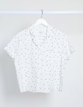Gilly Hicks pyjama shirt in floral print