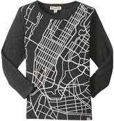 Appaman Fine Line Cityscape Tee (Toddler/Kid) - Charcoal - 4T