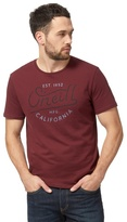 O'neill Dark Red Logo Print T-shirt