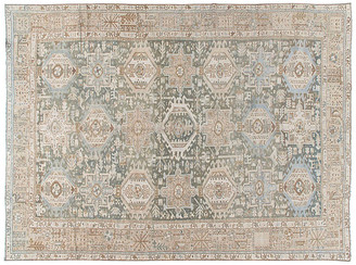 One Kings Lane Vintage Persian Heriz Rug - 8'5 x 11'5 - beige/multi