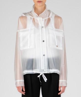 Atm Rubber Hooded Rain Jacket - Clear