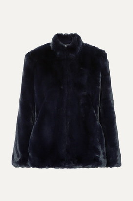 Cefinn Orla Faux Fur Coat - Navy