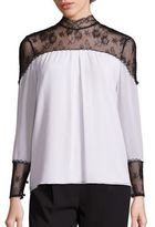 Alice + Olivia Keagan Lace Yoke Top