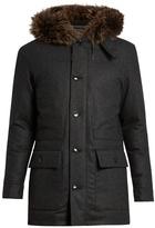 Ermenegildo Zegna Fur-trimmed Down-padded Wool Parka