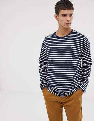Celio long sleeve top in navy stripe