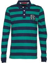 Front Up Rugby Mens World Tour Rugger Long Sleeve Polo Emerald Green
