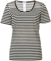 Akris Punto striped T-shirt - women - Cotton/Spandex/Elastane - 10