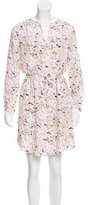 Rebecca Taylor Printed Silk Knee-Length Dress