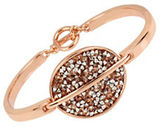 Kenneth Cole New York Mixed Sprinkled Stone Oval Toggle Bracelet
