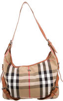 Burberry Bucket Accented House Check Hobo