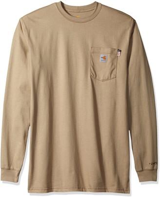Carhartt Men's Big & Tall Flame Resistant Force Cotton Long Sleeve T Shirt