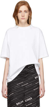 Balenciaga White I Love Techno T-Shirt