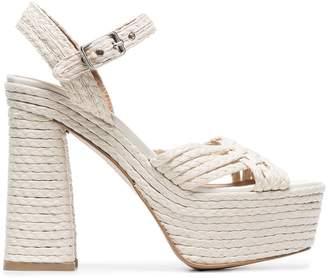 Castaner 135 woven platform sandals