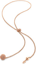 Folli Follie Bling Chic Lariat rose gold-plated necklace