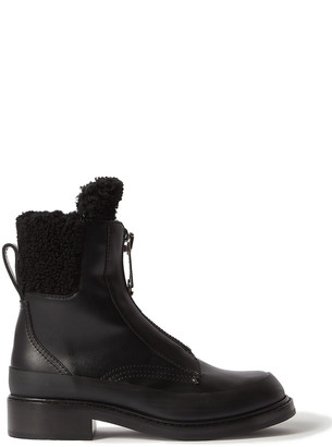 Chloé Roy Shearling-lined Leather Ankle Boots