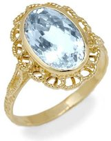 Tatitoto Gioie Women's Ring in 18k Gold with Aquamarine, Size 6, 3.2 Grams