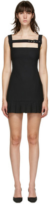 Coperni Black Buckle Pleat Dress