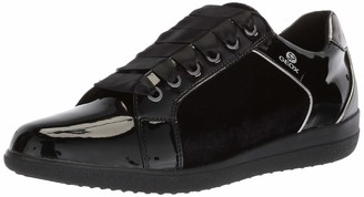 Geox Women's Nihal 6 Velvet & Patent Fashion Sneaker