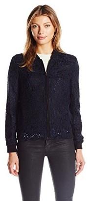 Helene Berman Women's Lace Bomber Jacket