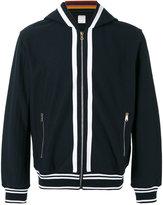 Paul Smith striped detail zipped hoodie - men - Cotton - S